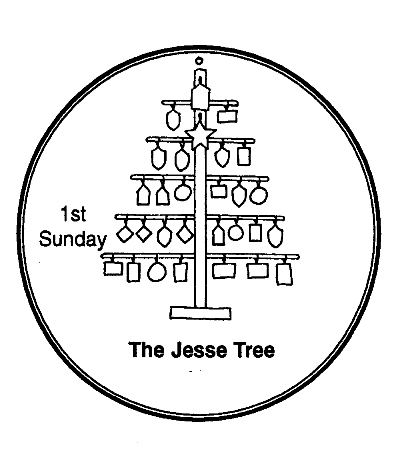 picture regarding Jesse Tree Symbols Printable named Countdown towards Arrival-Jesse Tree Spouse and children Development