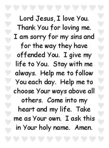 Prayer card copy