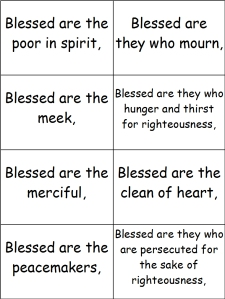 Monster image in printable beatitudes