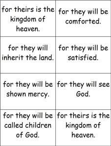 Memorizing The Beatitudes Family Formation