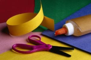 scissors glue