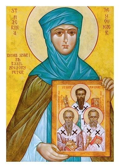 Saint Macrina, sister to Saints Basil, Gregory, and  Peter
