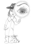 Magnifying girl