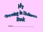 growing in holiness book