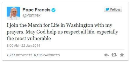 Please pray for those at the March for Life in DC today!