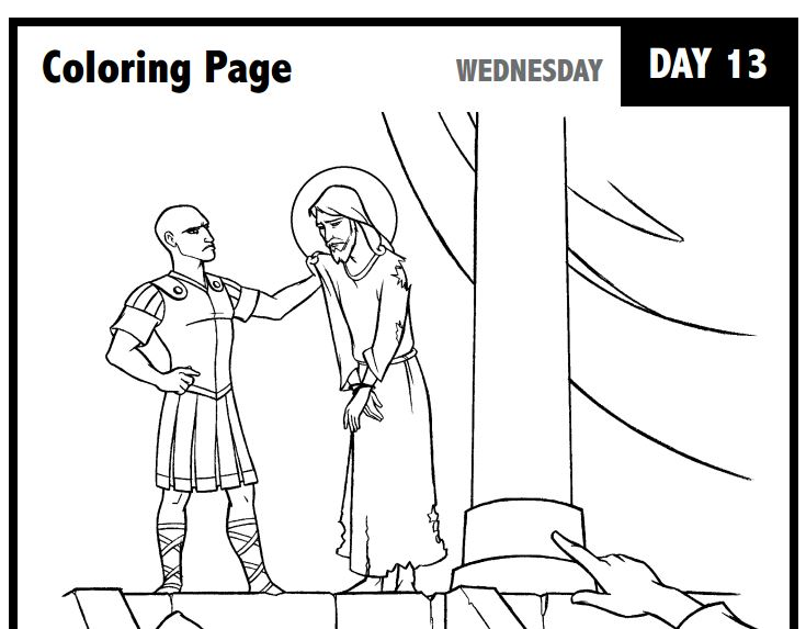 Free Journey Through Lent Coloring Pages