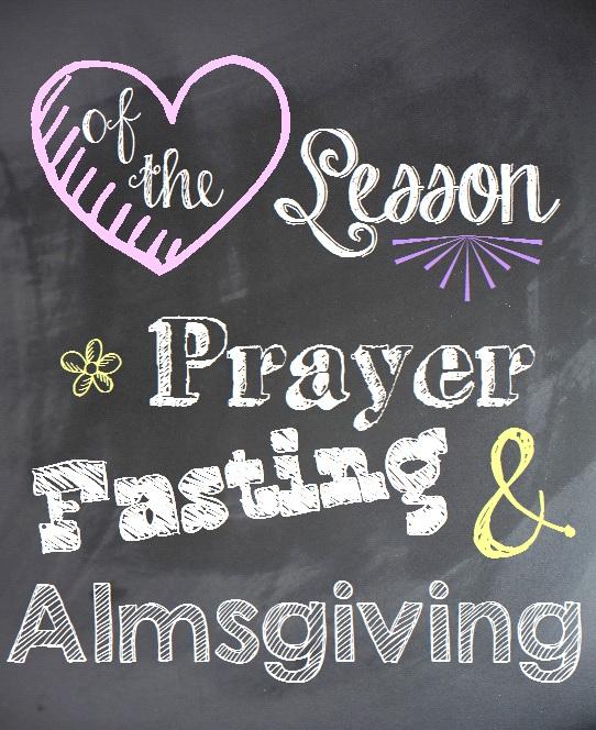 prayer fasting almsgiving