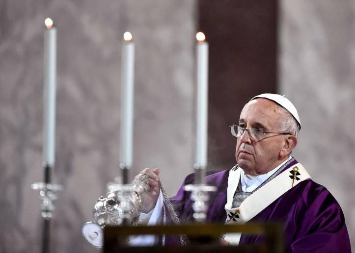 ITALY-VATICAN-POPE-MASS-ASH-WEDNESDAY