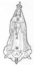 Mary at Fatima - Tina