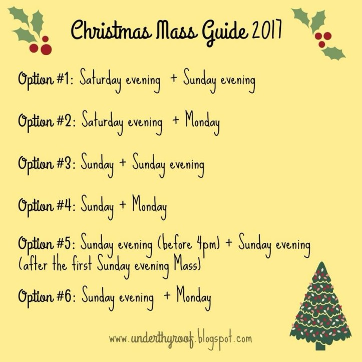 Christmas Masses 2017