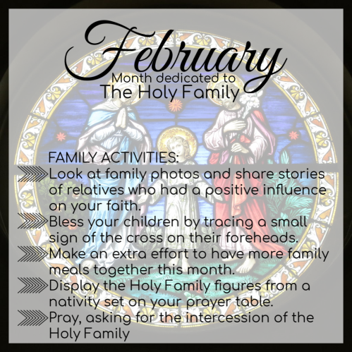 month of holy family Feb